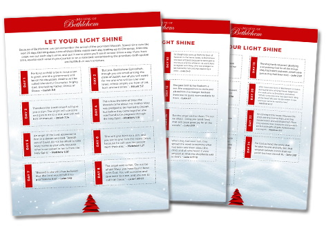 Sign Up TODAY To Receive The BONUS Downloads Let Your Light Shine Advent Toolkit And 25 Days Of Christmas Scriptures