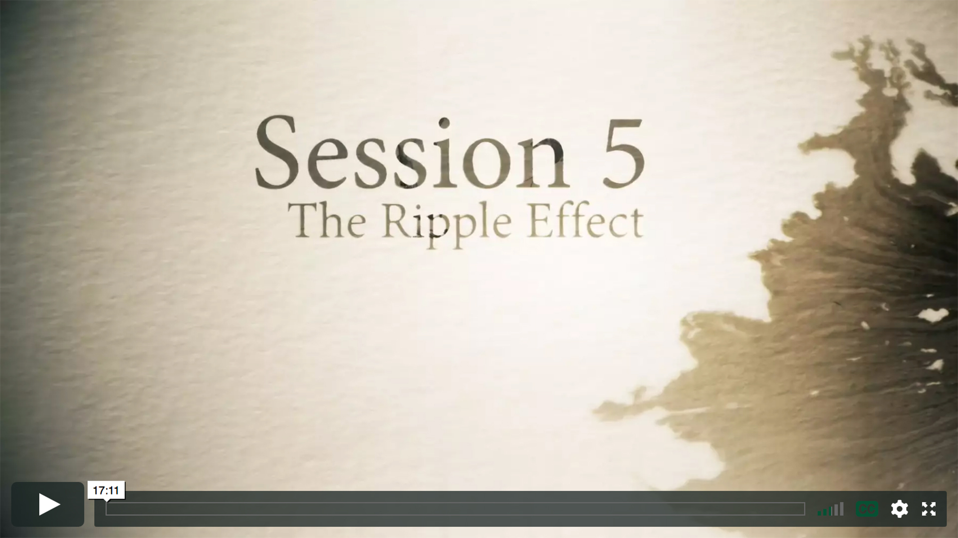 Session 5 - The Ripple Effect
