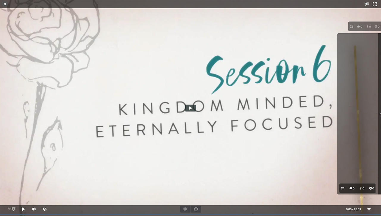 Session 6 - Kingdom Minded, Eternally Focused